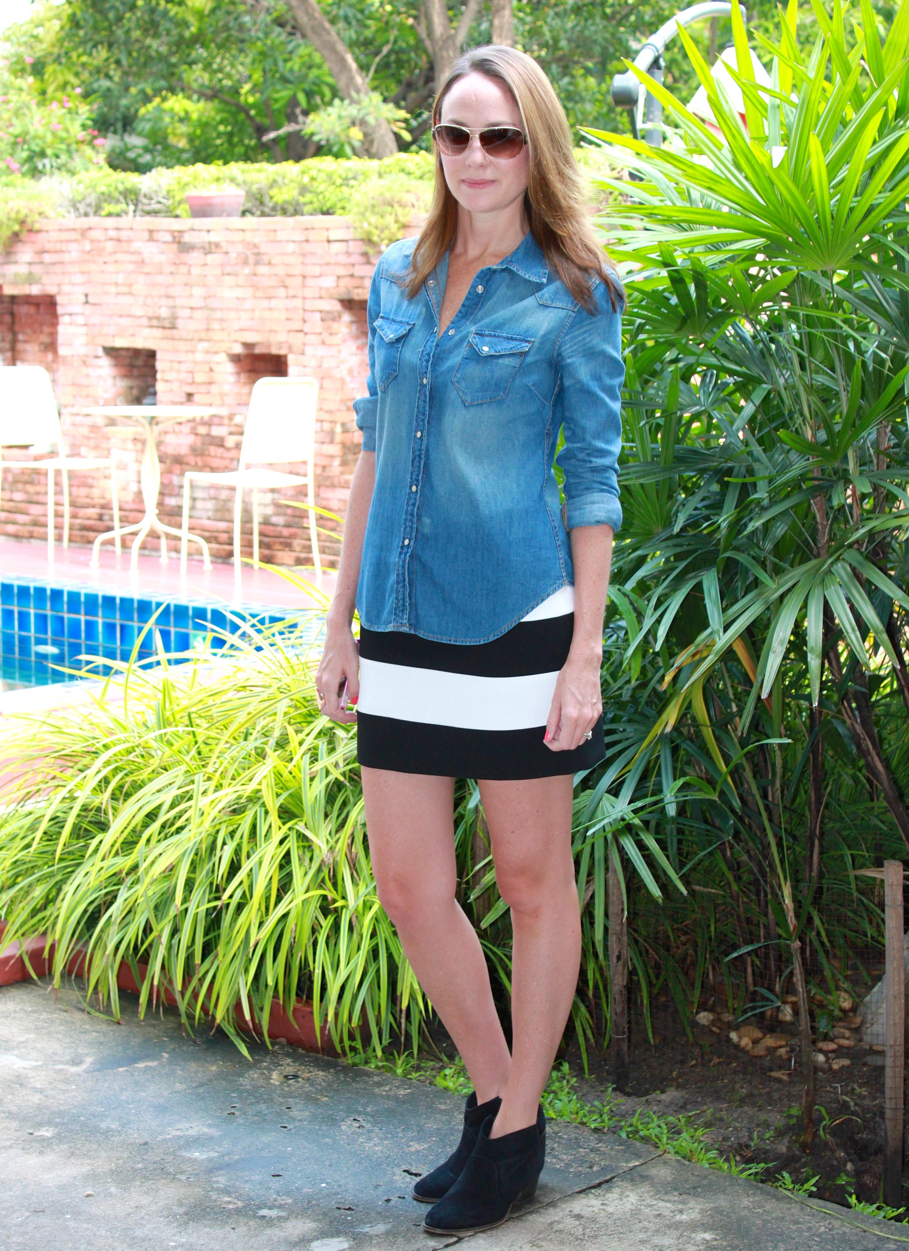 a5ea96b0400a striped mini skirt | amyswalkinwardrobe